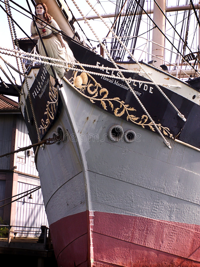 Prow of Vintage Ship royalty free stock image