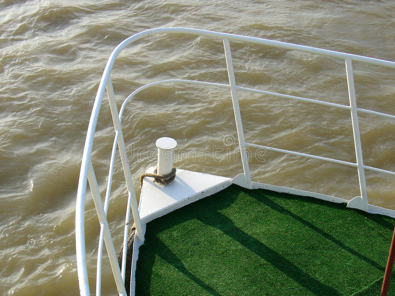 Download Prow Of A Yacht stock photo. Image of prow, floating, green - 94114