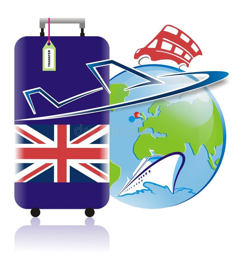 Prowadząca wycieczka turysyczna Anglia logo w wektorze ilustracja wektor