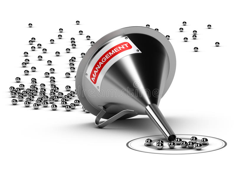 Prowadzenie systemu zarządzania pojęcie ilustracja wektor