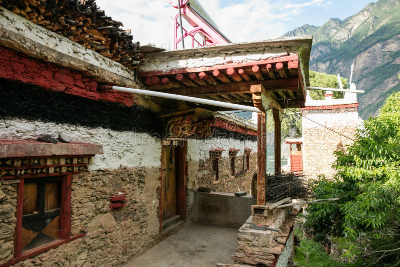 Prowincja Sichuan Chińska Tybetańska wioska obraz royalty free