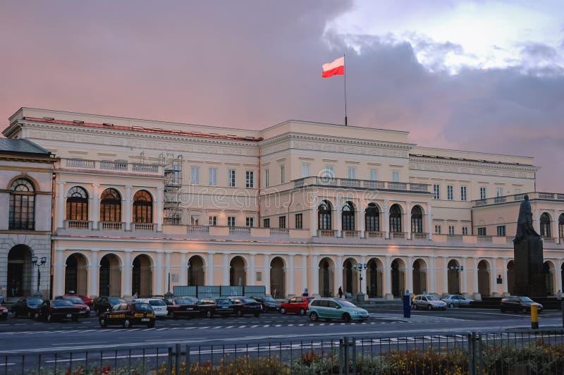 Prowizja pałac w Warszawa zdjęcie stock