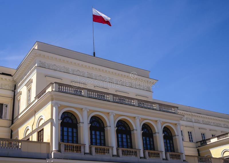 Prowizja pałac w Warszawa fotografia royalty free