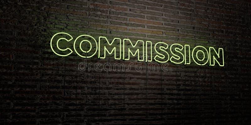 PROWIZJA - Realistyczny Neonowy znak na ściana z cegieł tle - 3D odpłacający się królewskość bezpłatny akcyjny wizerunek ilustracja wektor