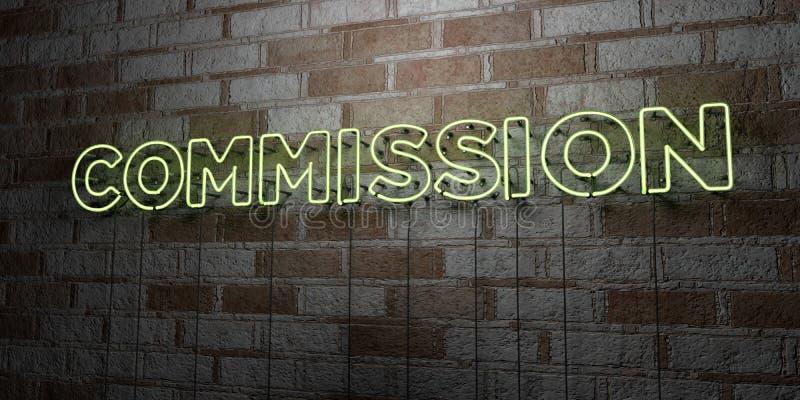 PROWIZJA - Rozjarzony Neonowy znak na kamieniarki ścianie - 3D odpłacająca się królewskości bezpłatna akcyjna ilustracja ilustracji