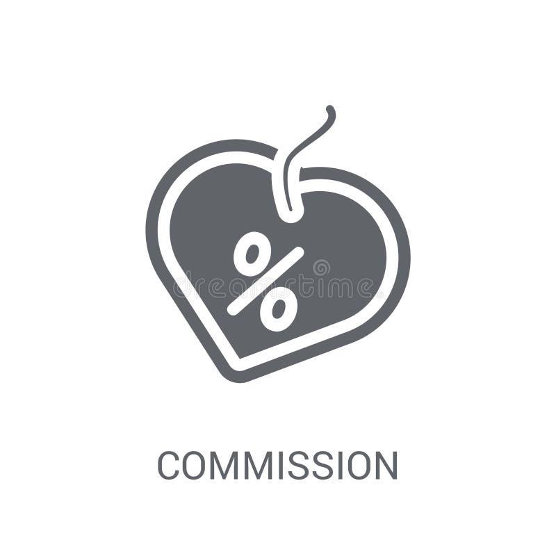 Prowizji ikona Modny prowizja logo pojęcie na białym backgro royalty ilustracja