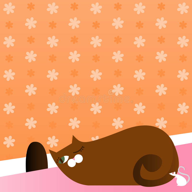 Download Prowling Kitty stock illustration. Illustration of animal - 2488597