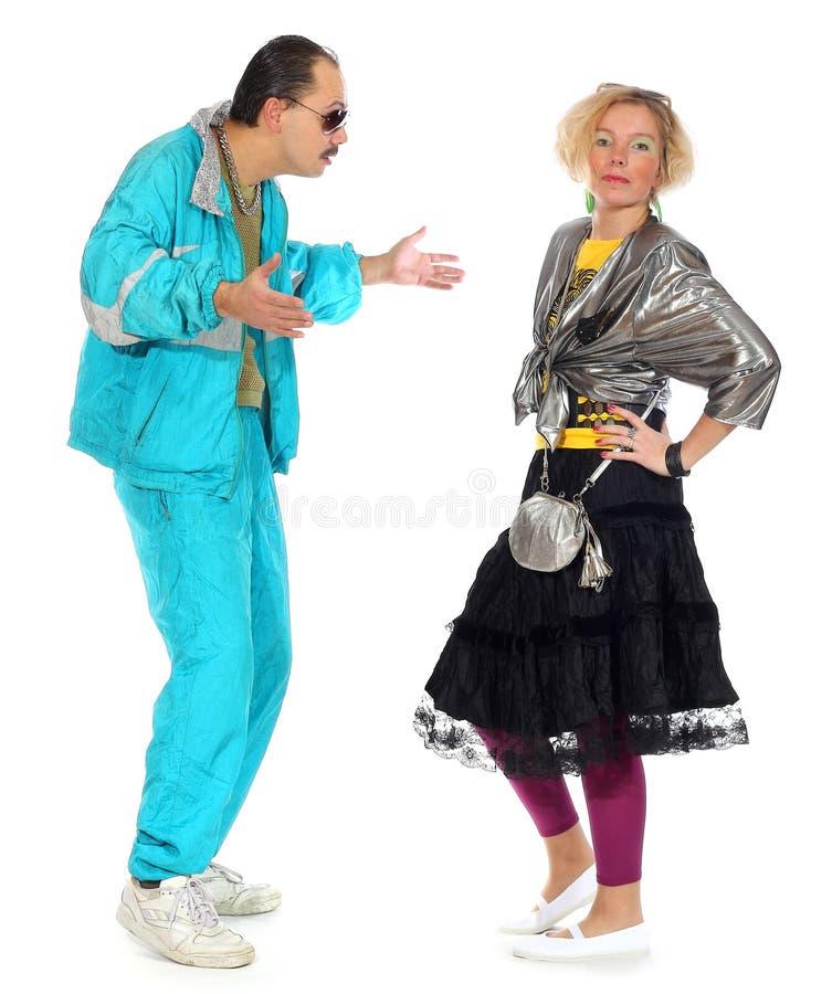 Proxeneta e uma prostituta fotografia de stock