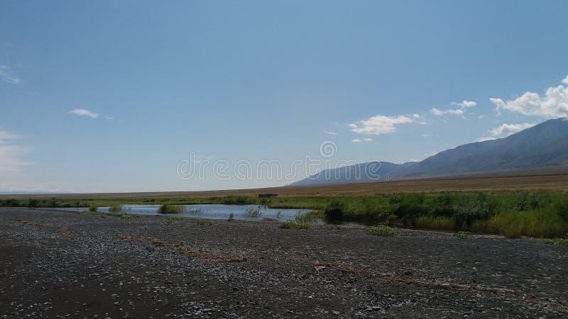 Proximités de lac Alakol image libre de droits