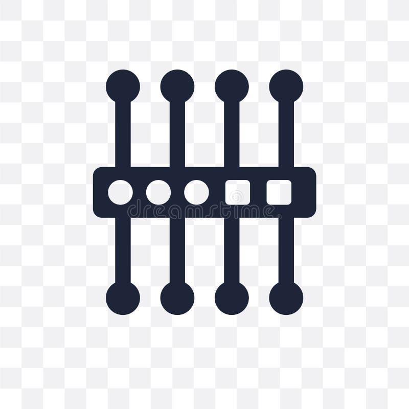 proxyserver transparant pictogram het ontwerp van het proxyserversymbool van N stock illustratie