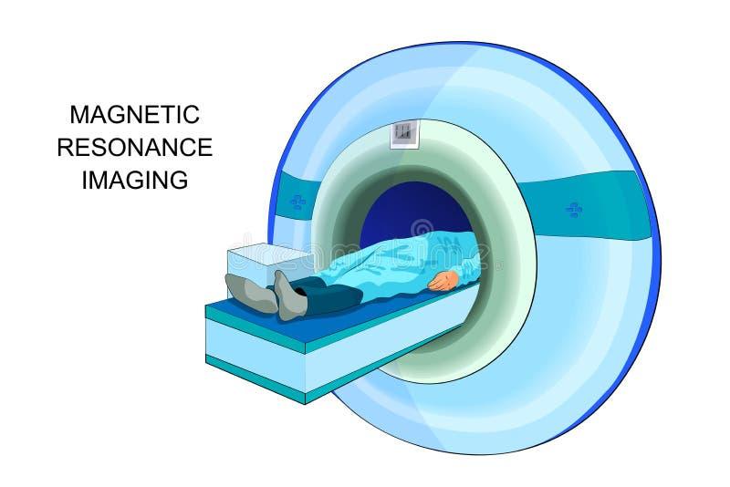 Proyección de imagen de resonancia magnética ilustración del vector