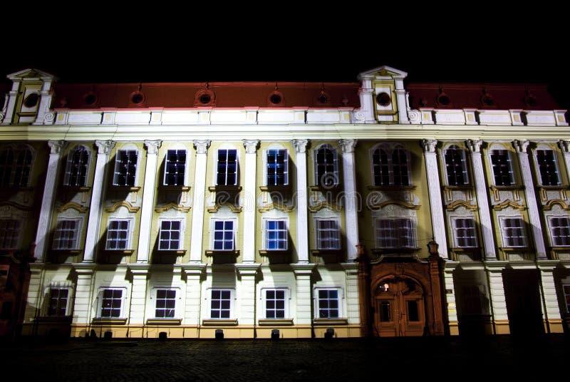 Proyección del edificio foto de archivo libre de regalías