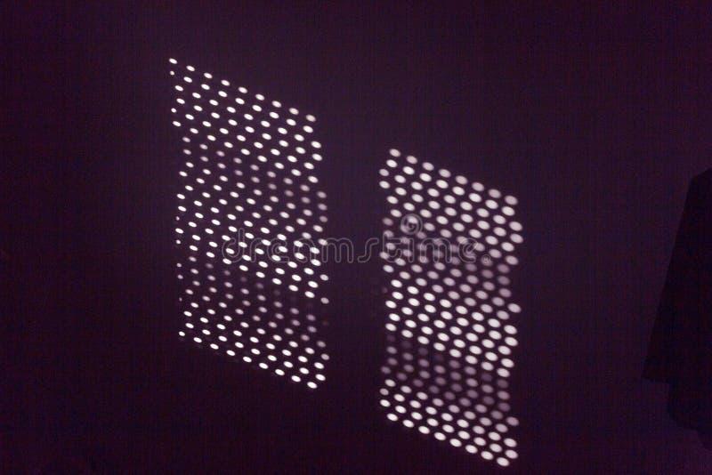 Proyección digital de puntos láser imagenes de archivo