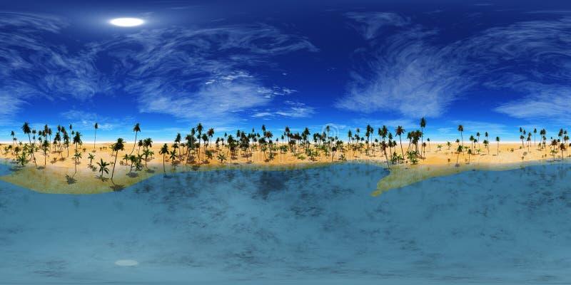 Proyección equidistante, mapa de alta resolución de HDRI mapa del ambiente, puesta del sol del desierto del panorama en el desier fotos de archivo