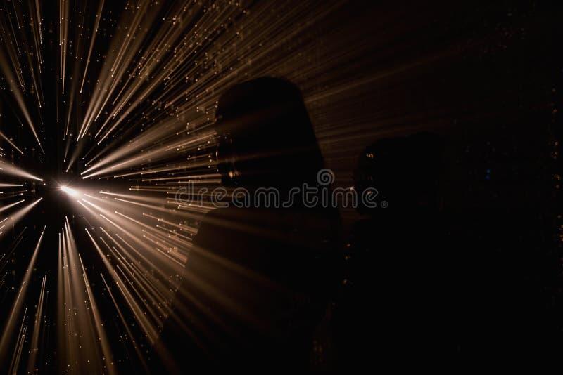 Proyecci?n abstracta ligera Rayos ligeros coloridos foto de archivo libre de regalías
