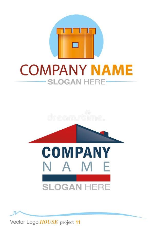 Proyecto 11 de la casa del logotipo del vector libre illustration
