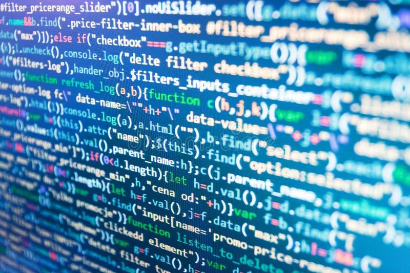 Proyecto abierto de la fuente del Freeware Programación previniendo cortes en seguridad de Internet Lugar de trabajo del especial fotos de archivo