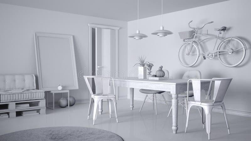 Proyecto Blanco Total De La Sala De Estar Minimalistic ...