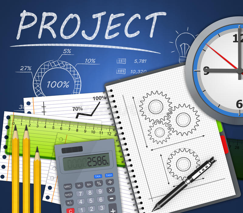 Proyecto como idea libre illustration