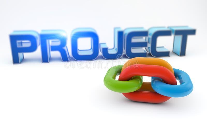 Proyecto de desarrollo ilustración del vector