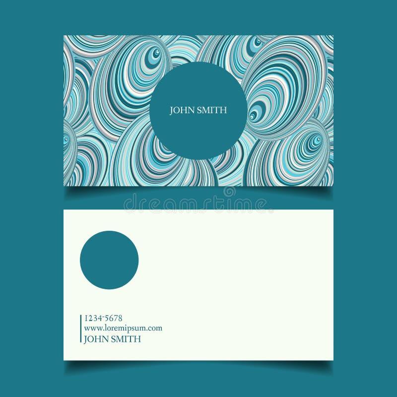 Proyecto de diseño de la tarjeta de visita libre illustration
