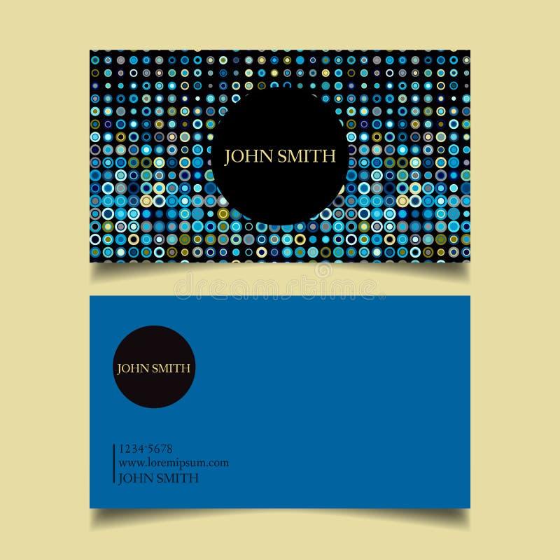 Proyecto de diseño de la tarjeta de visita ilustración del vector