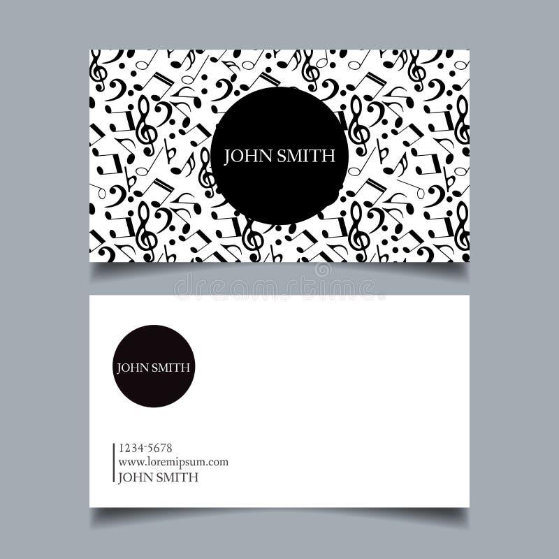 Proyecto de diseño de la tarjeta de visita stock de ilustración