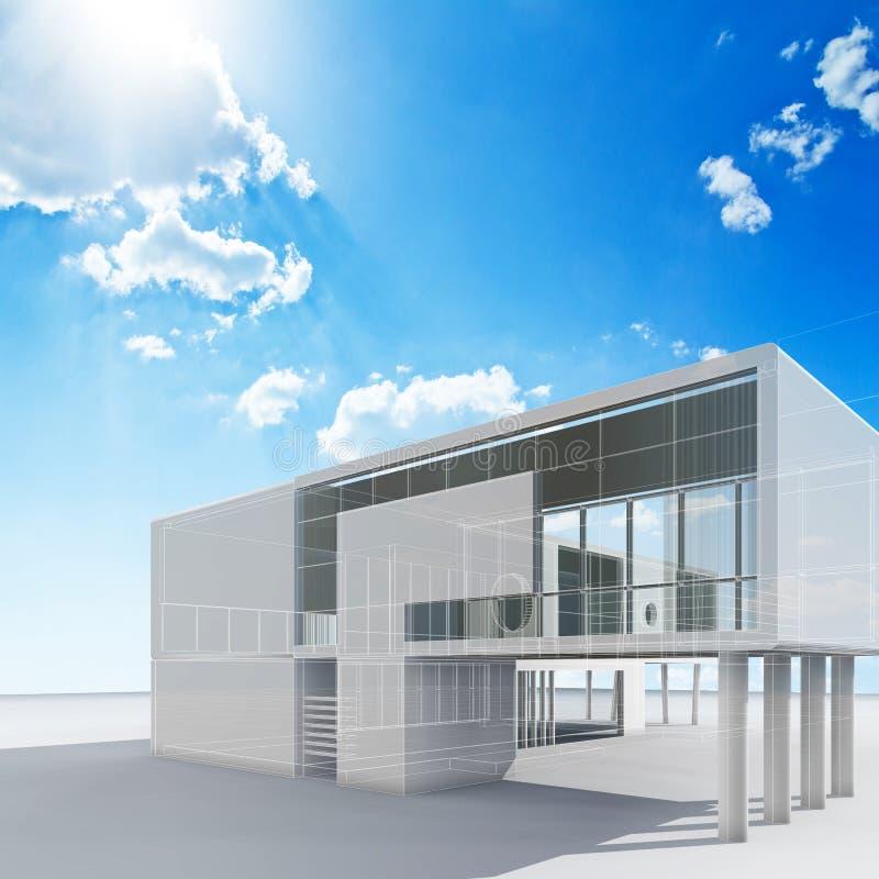 Proyecto de la arquitectura ilustración del vector