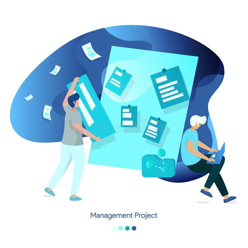 Proyecto de la gestión del ejemplo del fondo stock de ilustración