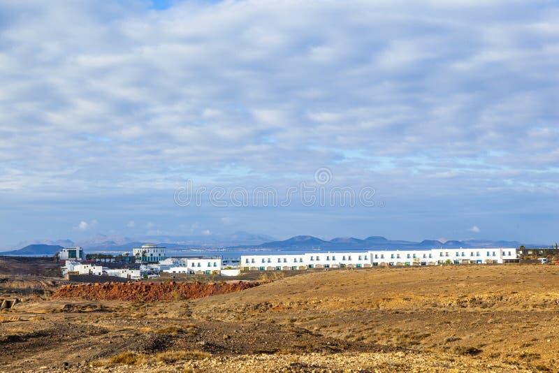 Proyecto de la urbanización en el Blanca de Playa fotos de archivo