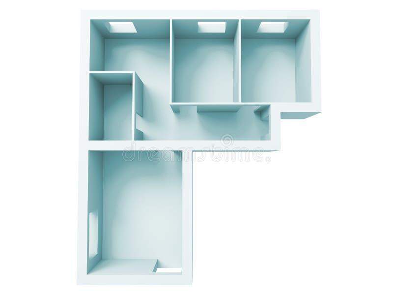 Proyecto del apartamento ilustración del vector