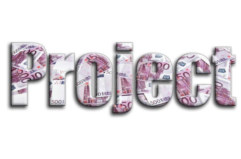 proyecto La inscripción tiene una textura de la fotografía, que representa muchas 500 cuentas de dinero euro fotos de archivo libres de regalías