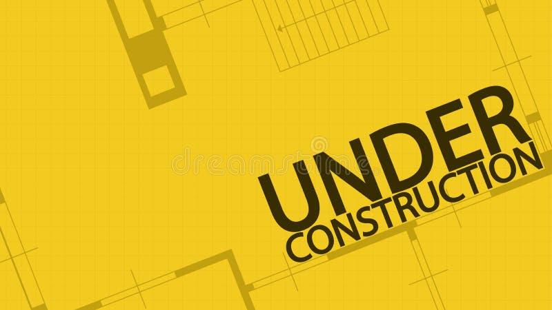 Proyecto original bajo construcción 08 ilustración del vector