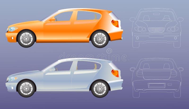 Proyecto original de la ilustración del coche libre illustration