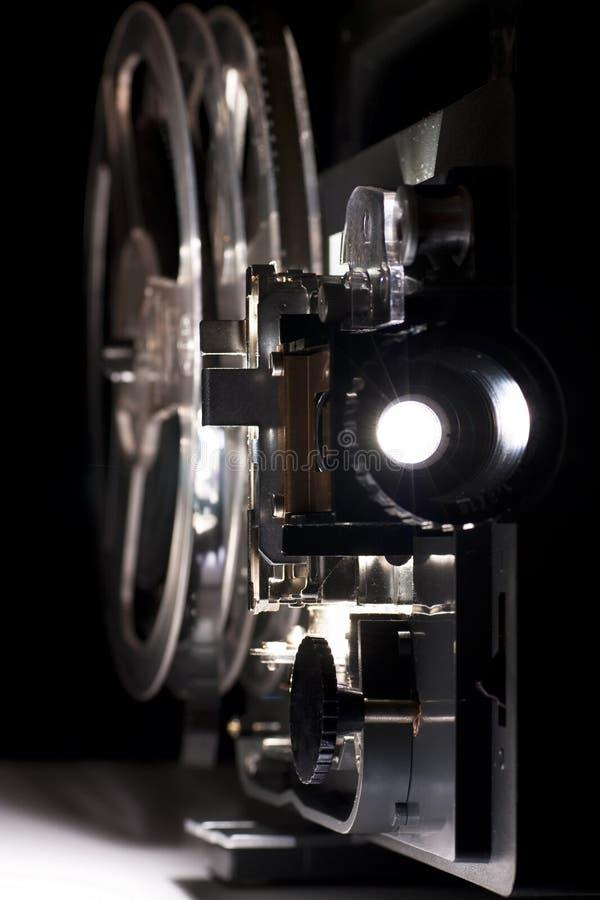 Proyector casero viejo del cine fotos de archivo