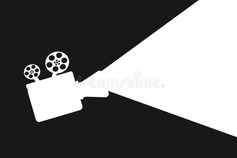 Proyector de film illustration stock