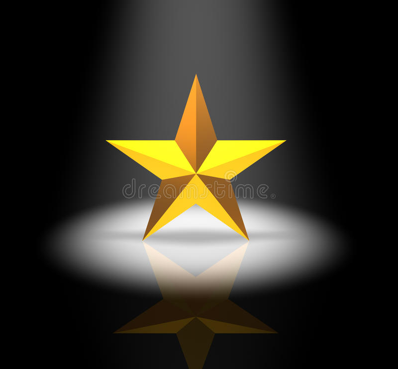 Proyector de la estrella libre illustration