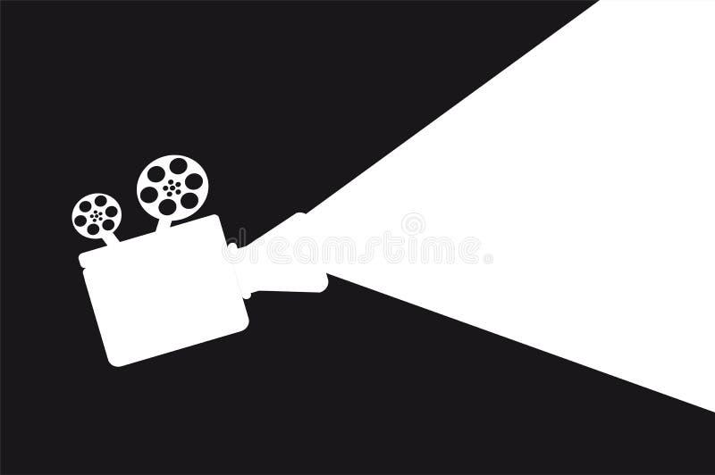 Proyector de la película stock de ilustración