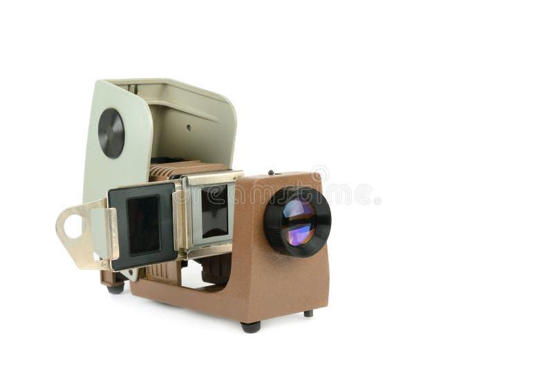 Proyector de la tira de película del vintage aislado en el fondo blanco imagen de archivo libre de regalías