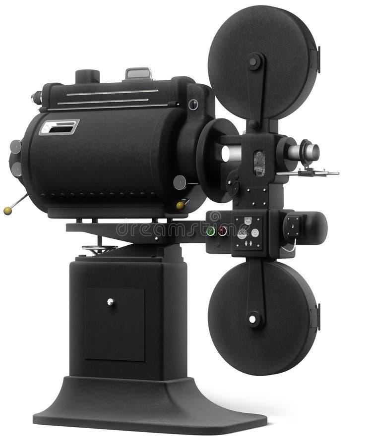 Proyector de película industrial en blanco libre illustration