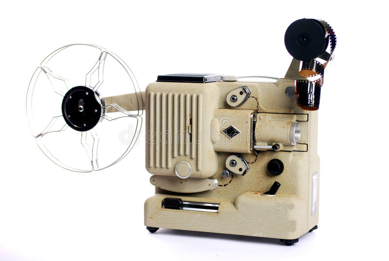 Proyector de película retro fotografía de archivo