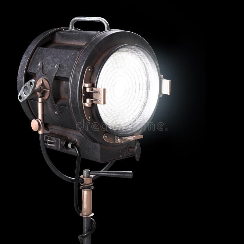 Proyector del teatro del vintage 3d o luz del estudio de la película imágenes de archivo libres de regalías