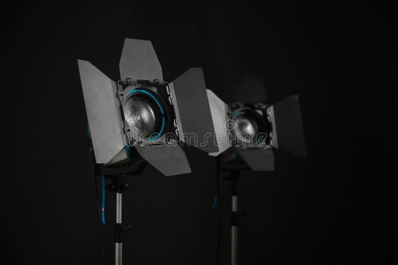 Proyector en la etapa Luces del cine de Fresnel para la industria de la televisión fotografía de archivo libre de regalías