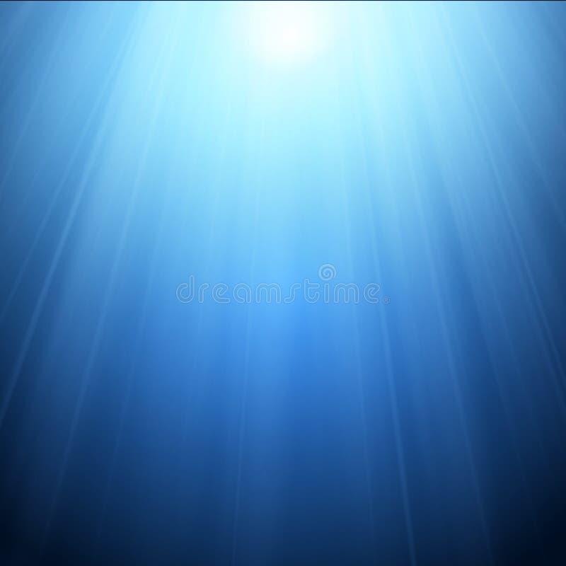 Proyector frío con los rayos aislados en fondo azul Vector libre illustration