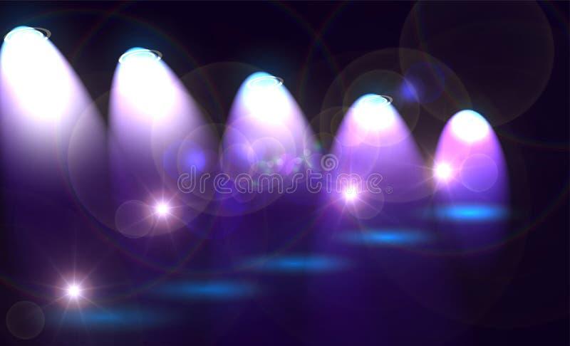 proyector hermoso de la iluminación del proyector extracto del humo texturizado libre illustration