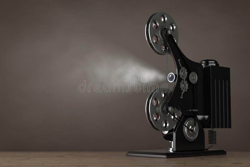 Proyector retro del cine de la película de cine representación 3d ilustración del vector