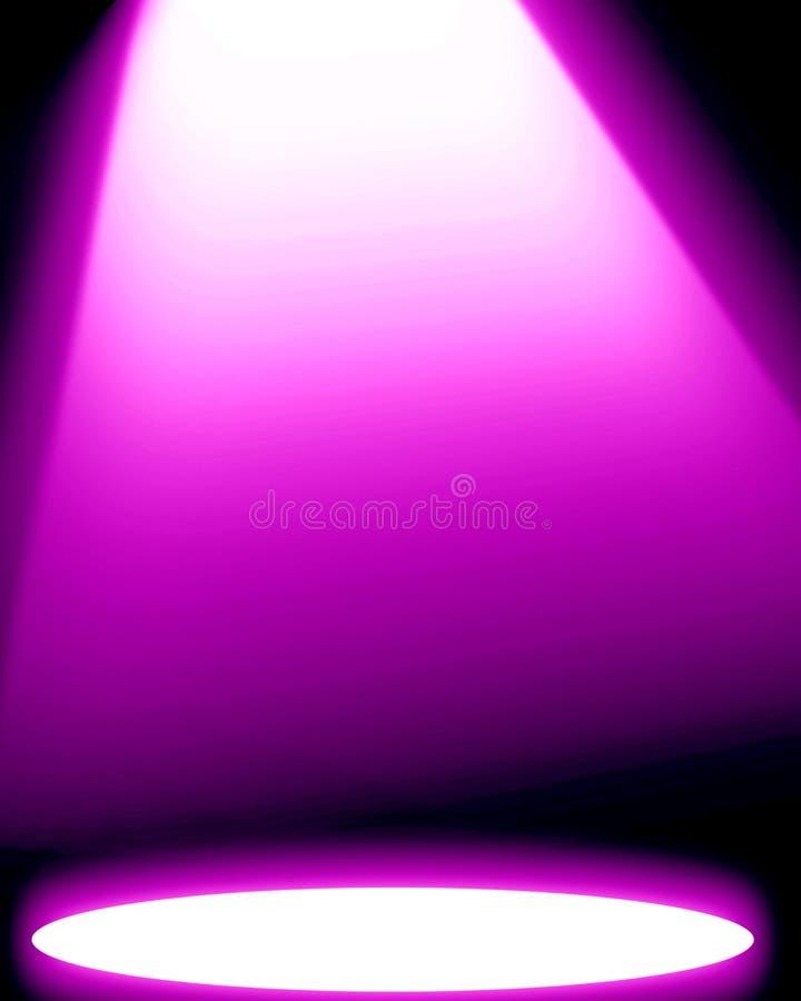 Proyector rosado ilustración del vector