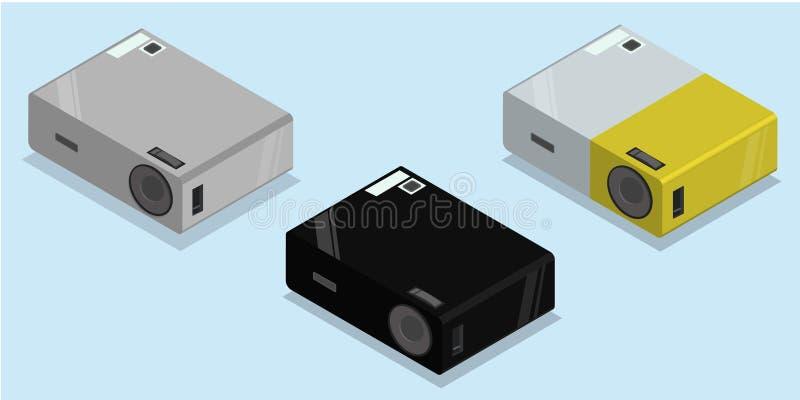 Proyector video de las multimedias ilustración del vector
