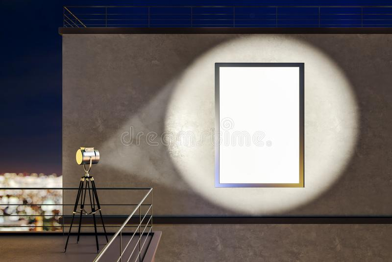 Proyector y cartel del tejado libre illustration