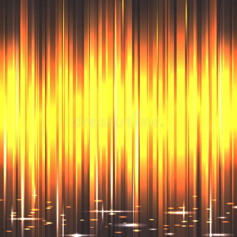 Proyectores con los rayos amarillos stock de ilustración